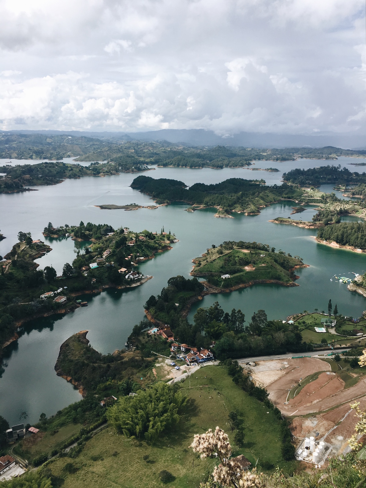 Climb the 700 stairs of Piedra del Peñol in Guatapé and be rewarded with this stunning view.