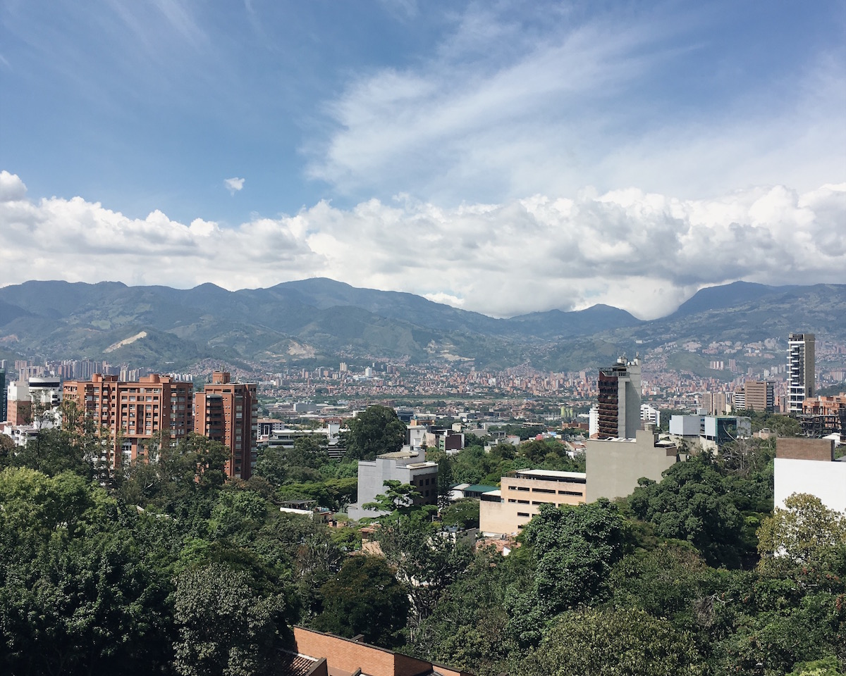 I felt so fortunate to look out at this every day from my balcony in Poblado.