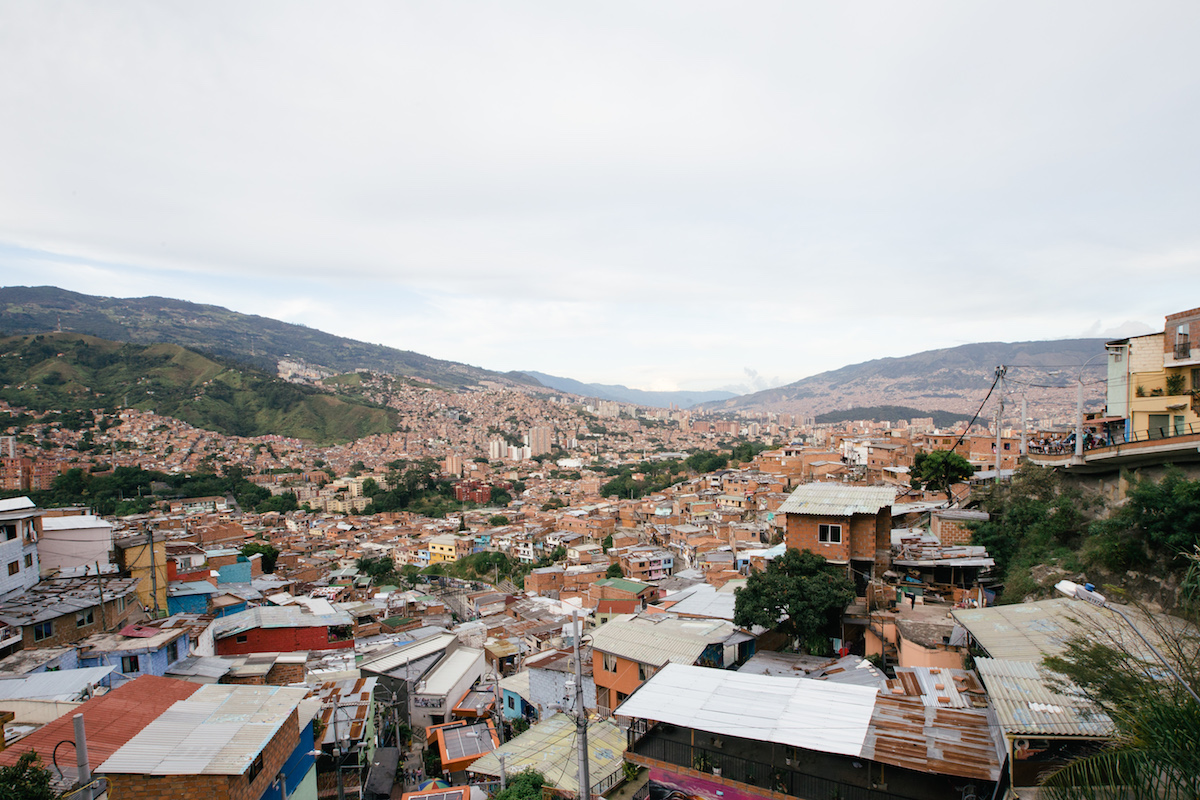 Looking out over the hills from Comuna 13.