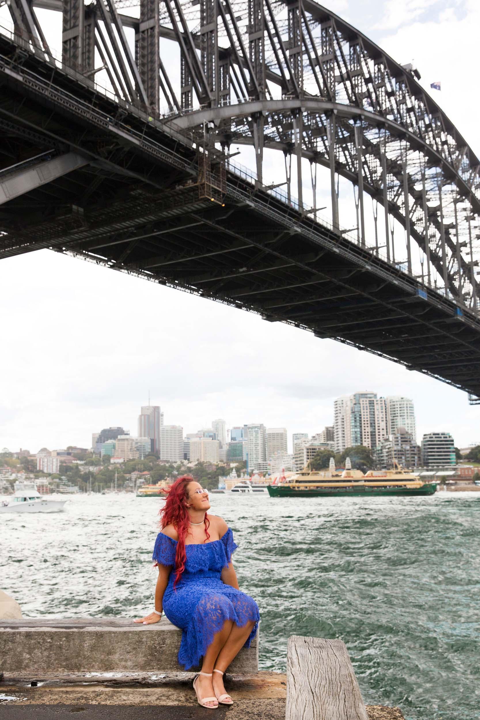 Flytographers Sarah & Stephen in Sydney