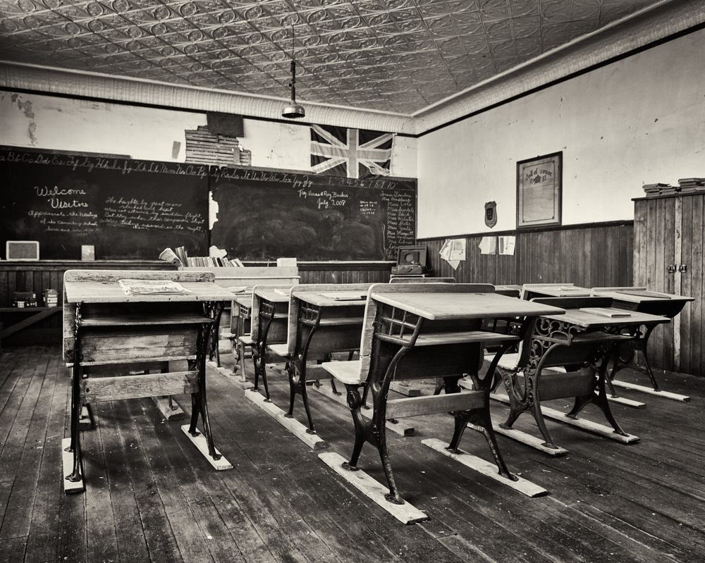 The classroom inside the Roland Schoolhouse south of Consort. I read after my visit that you can call for tours... oops! The door was open so I just had a quick look. Apologies if any locals read this, my intention wasn't to enter without permission. This place was really cool, probably the coolest I have experienced to date in the countryside!
