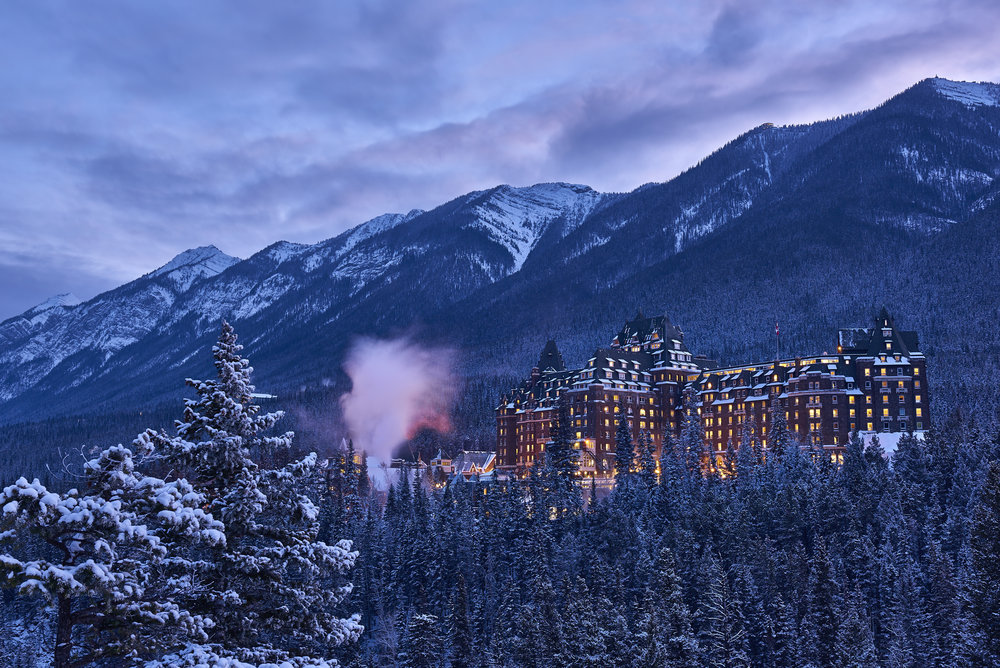 The Castle in the Rockies with her winter coat. I proudly spent 7 years here!