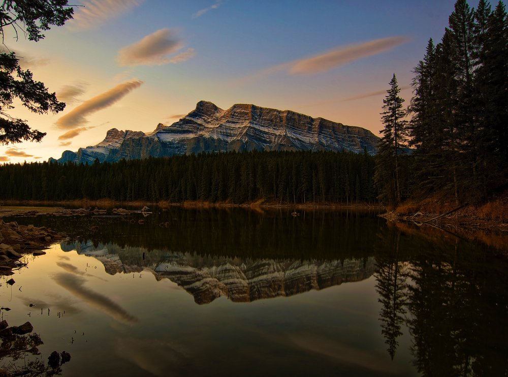Johnson Lake is as calm and peaceful a lake as you'll find in the mountain parks.