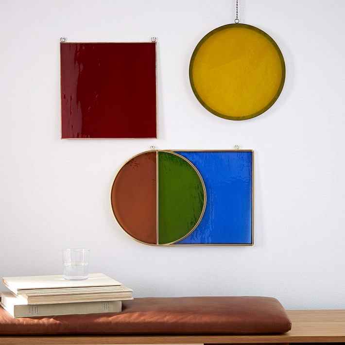 Commune Colored Glass Wall Art 1 O (1)
