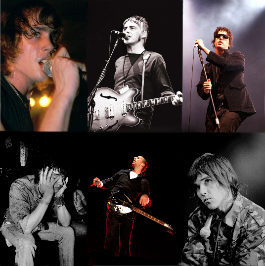 Just a couple from my archive.  L-R: Razorlight, Paul Weller, The Strokes, Pete Doherty, Coldplay, Ian Brown.