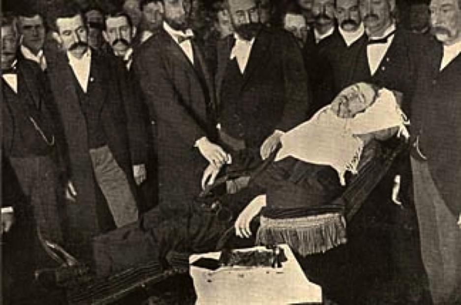 Pierre Arnold Bernard performing Kali Mudra in San Francisco—January 26, 1898