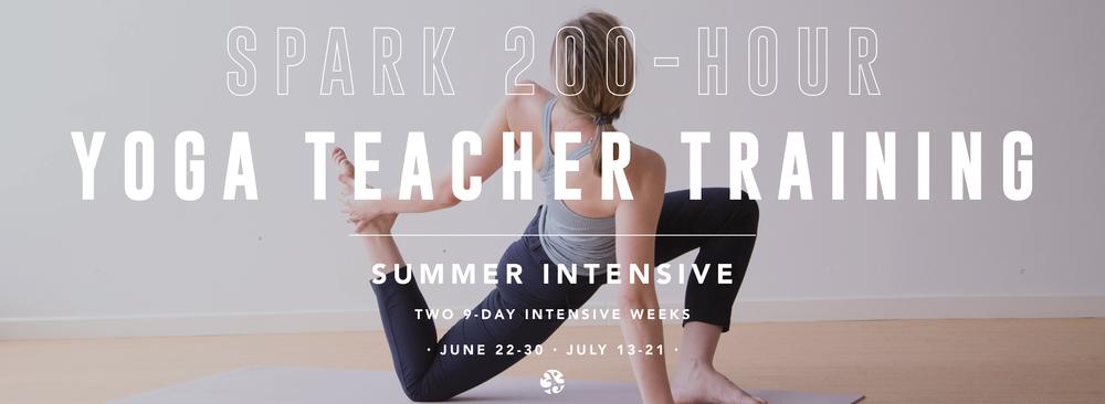 Spark 200-Hour Yoga Teacher Training: Summer Intensive