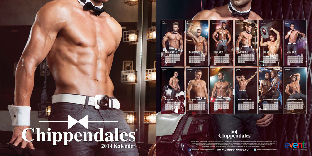 2014 Chippendales Calendars (US & Euro versions)