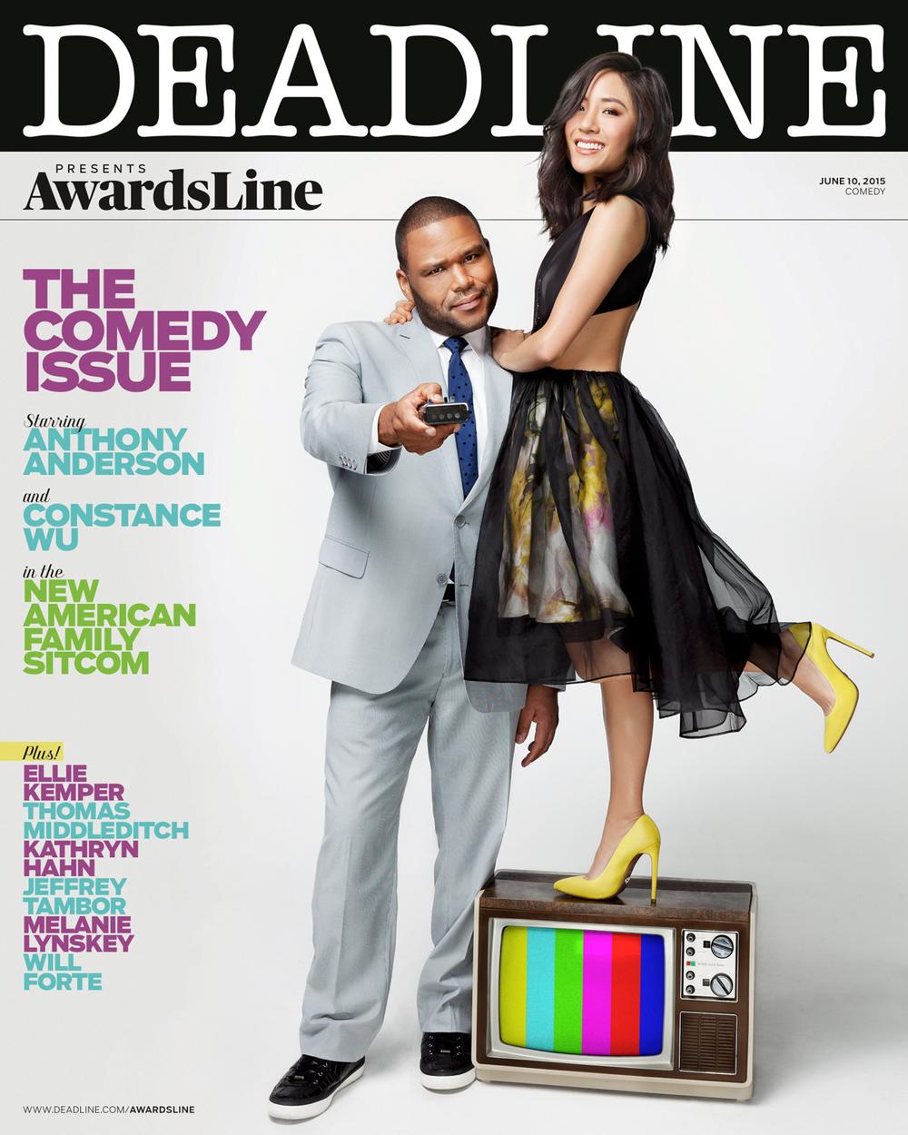 Awardsline Magazine, Anthony Anderson & Constance Wu