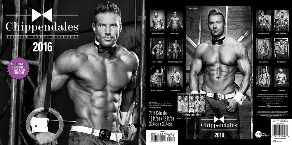 Chippendales 2016 Calendar