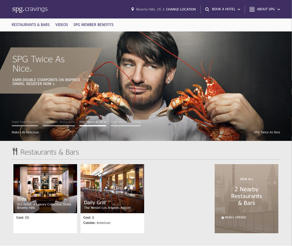Chef Eric Lanlard for SPG Cravings