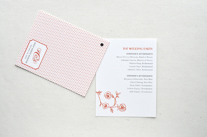 Wedding program by Paper & type