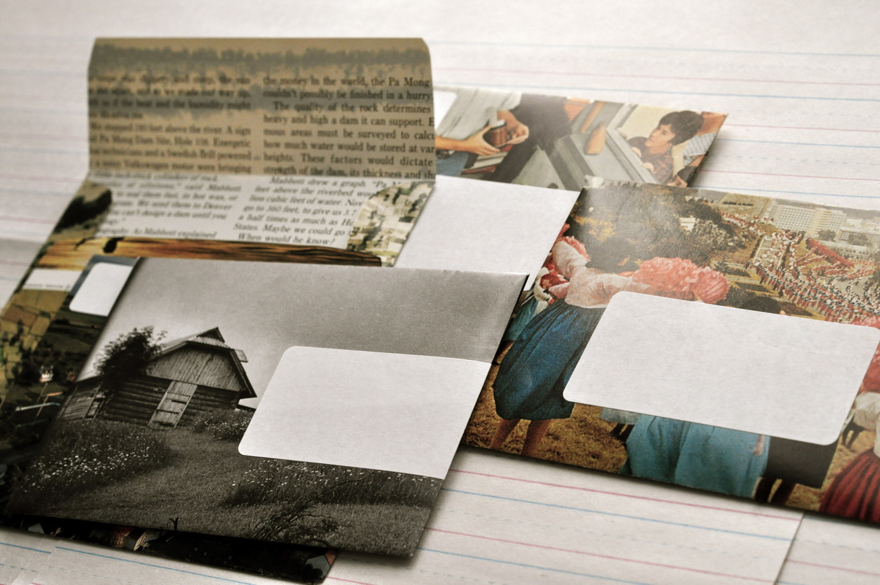 national geographic-turned-envelopes at  reform school .   …   next pen pal club meeting: monday, april 12, 7pm.
