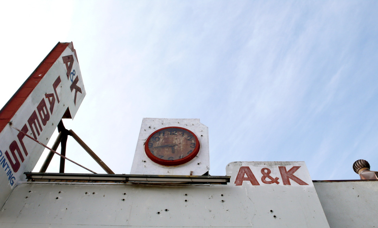 berry red + blue   …   favorite combination & forgotten clock / atwater, california