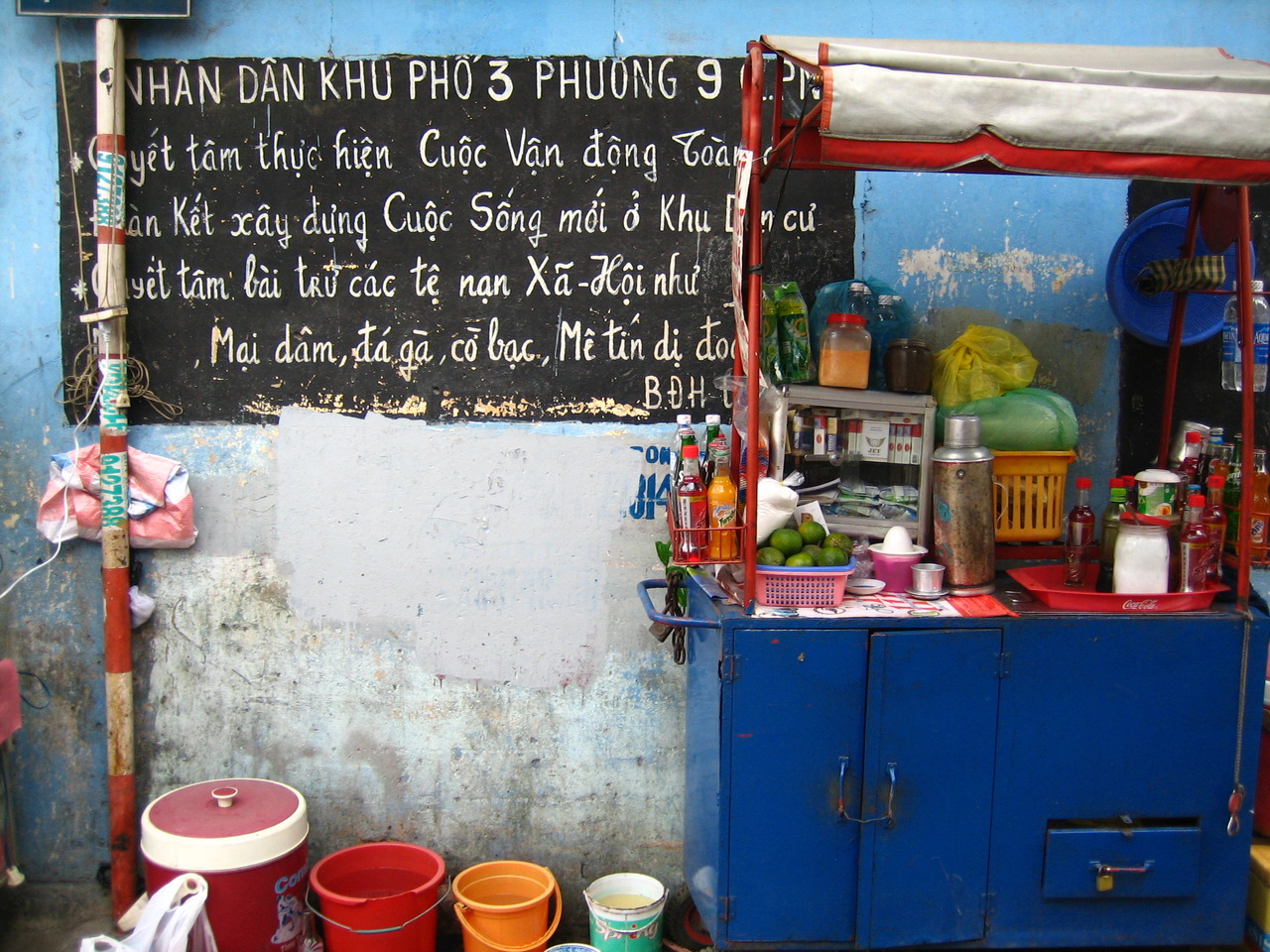 a most vibrant food stand.   …   saigon, vietnam