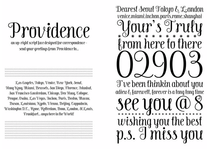 beautiful type design by  angel cho , & with correspondence in mind!   i think this may be a love quicker than at first sight…   …   (thanks for sharing,  watchwork ).