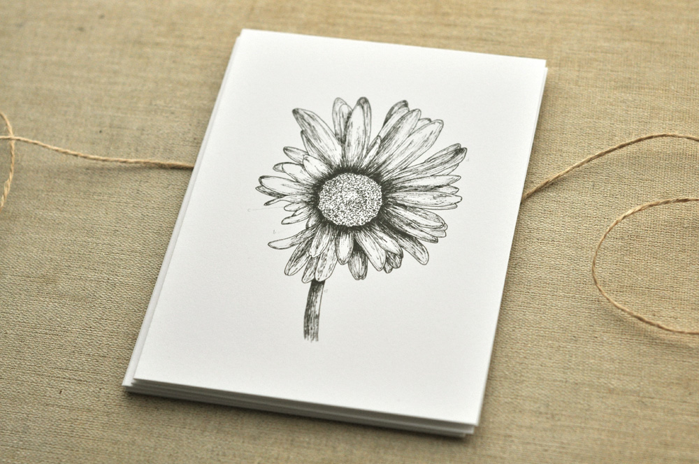 this is an old favorite.   …   the gerbera daisy is now a  card , & is also available as a  print .