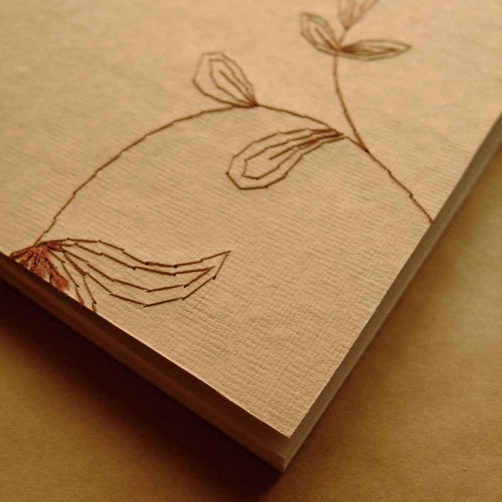 a lovingly stitched notebook to make the perfect desk accessory. … handmade with care by field & sea.