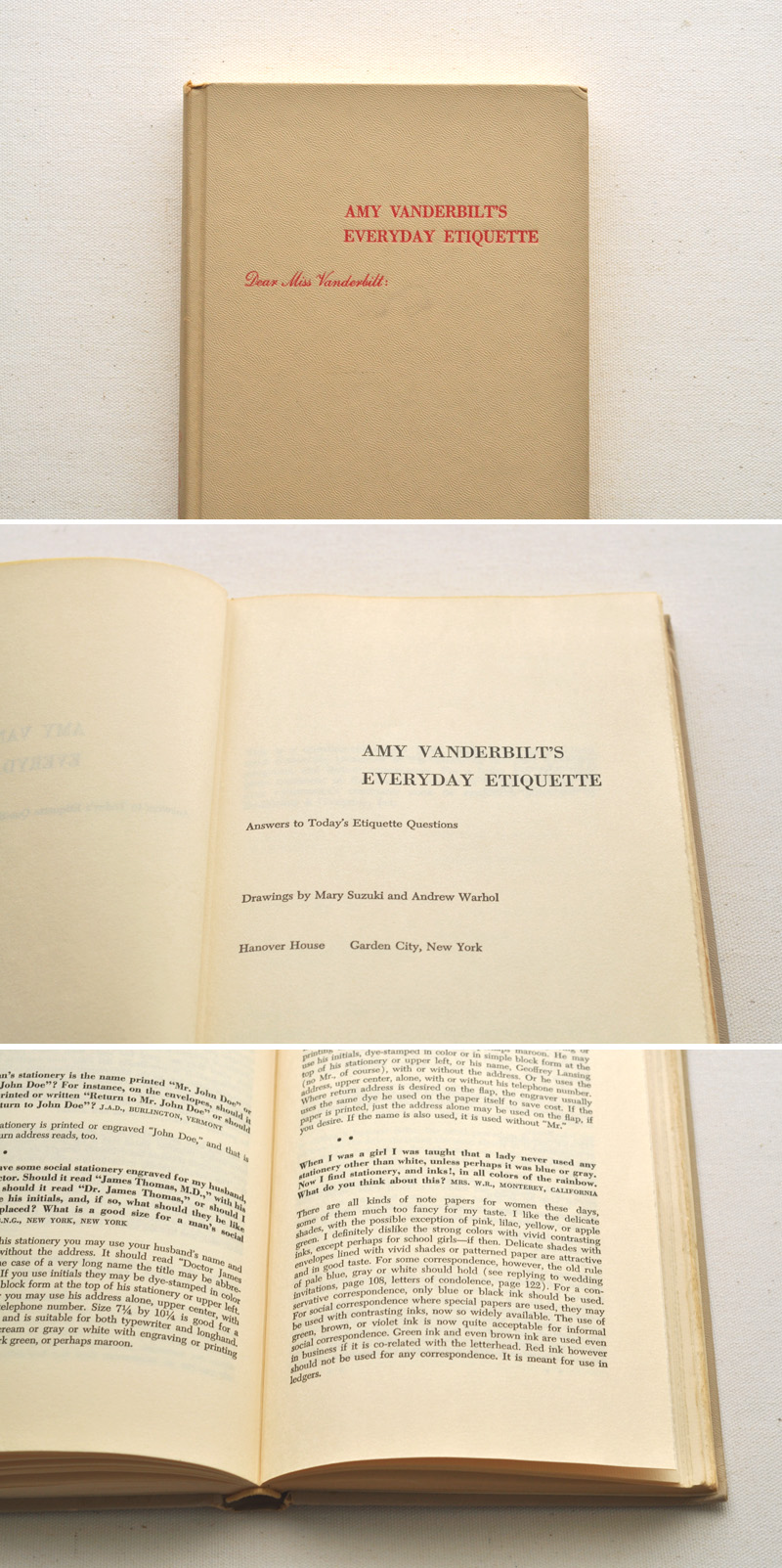 etiquette, stationery, & andrew warhol?   …   a delightful find from  restore & rework .