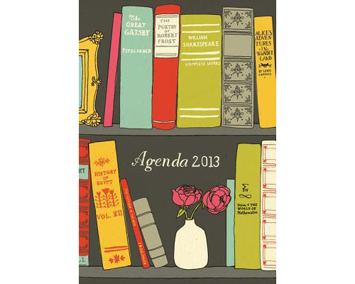 this cover illustration for an agenda by julia rothman is most endearing. consider tossing aside that phone-camera-calendar-internet thingy & keep track of your dates in here!   available at  chronicle books .