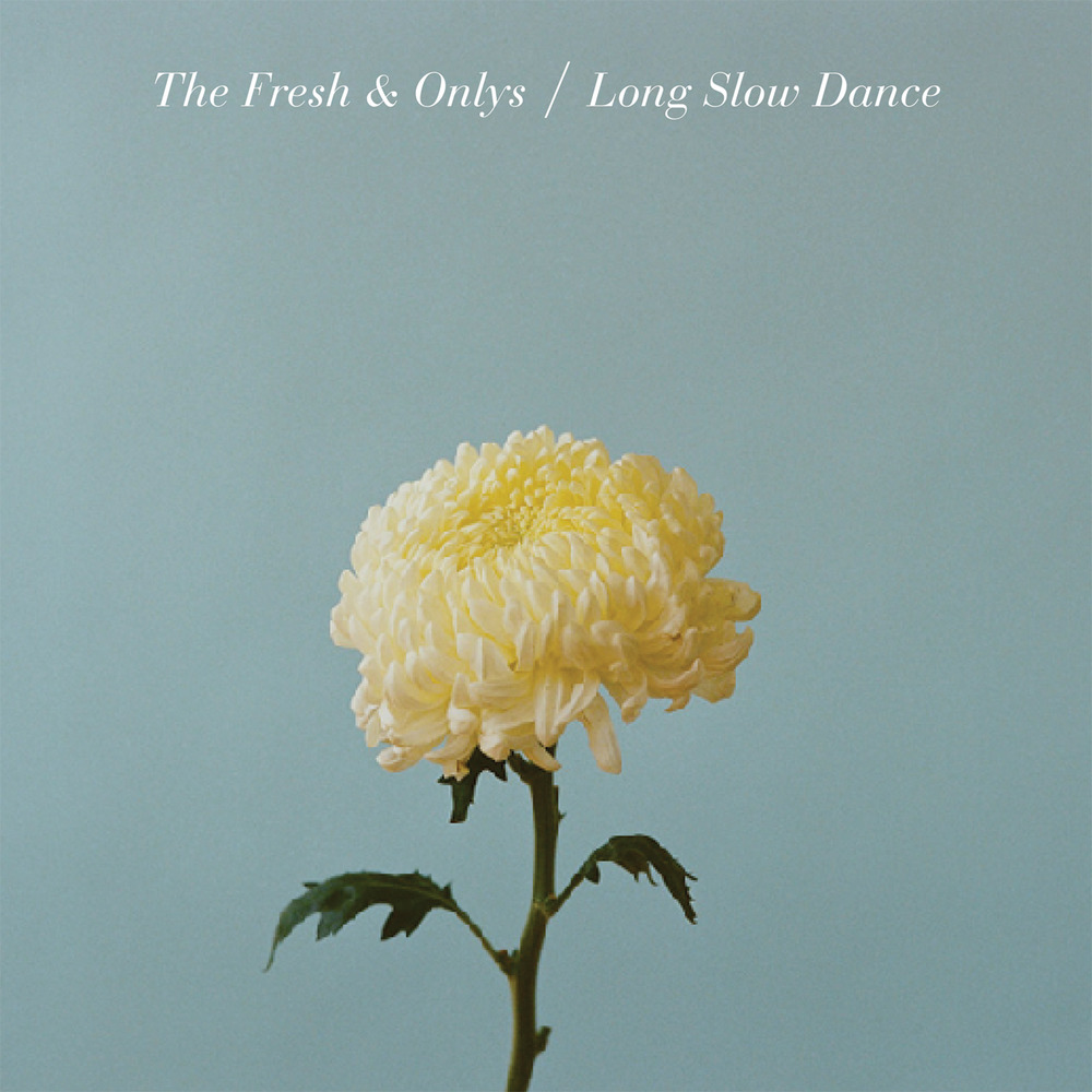 flower + type make a beautifully simple album cover for  the fresh & onlys .