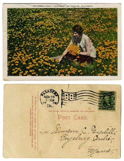 addressing was so simple in 1906, & postage so little.