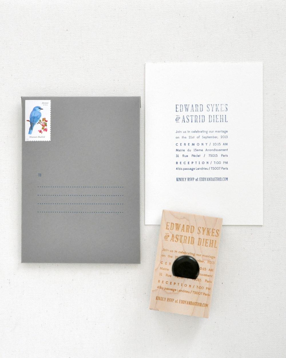 Astrid & Eddy Wedding Invitations / Paper & Type