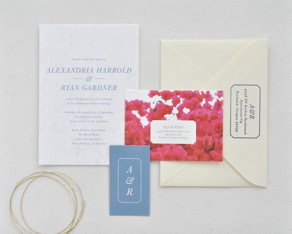 Wedding Invitation Paper Types: Bougainvillea & Lace