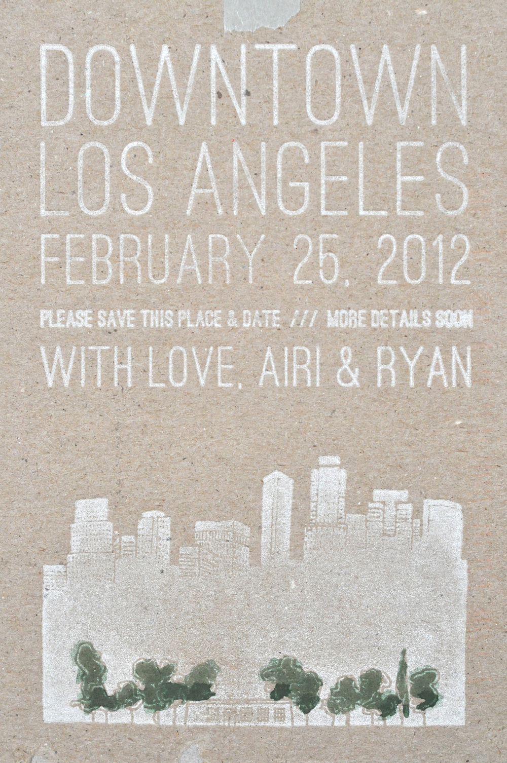 Wrk-shp Save-the-Date / Paper & Type