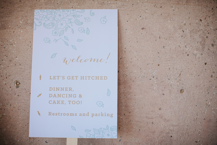 Wedding signage / Paper & Type