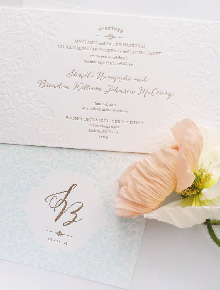 Paisley & Poppies Wedding Invitation Suite / Paper & Type
