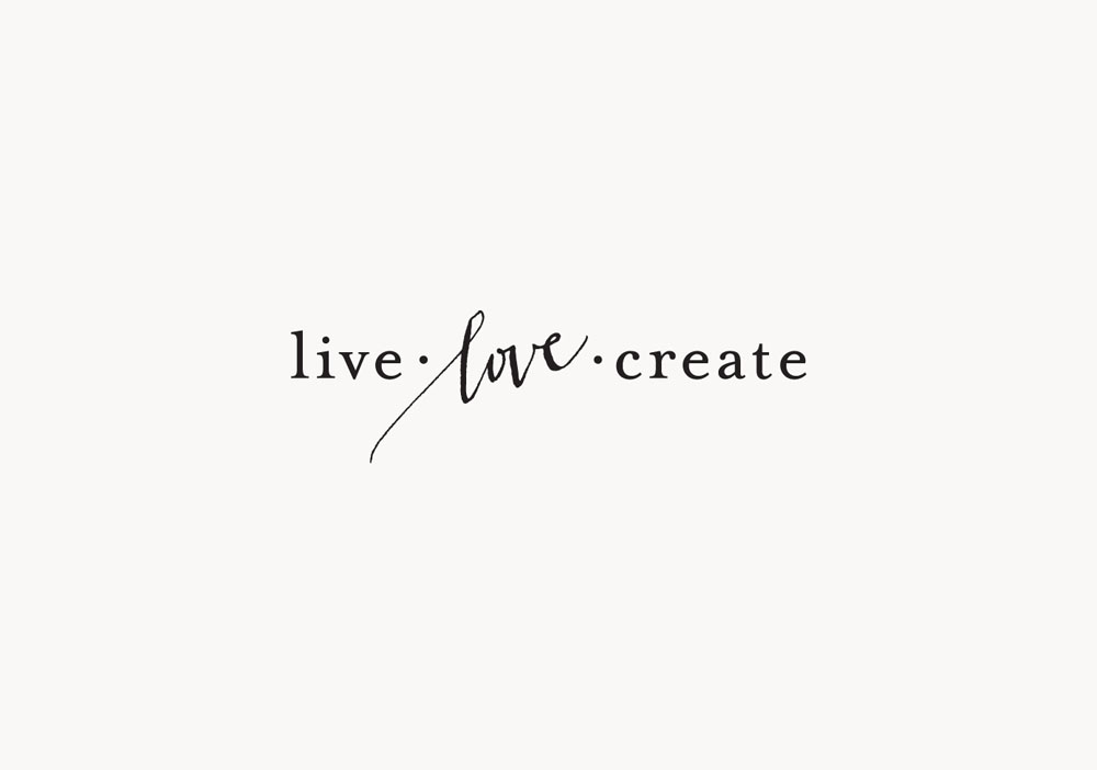 Logo for Live.Love.Create / Paper & Type