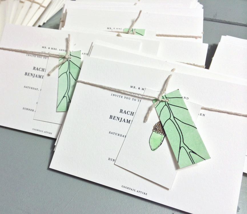 Tucker-Klein Wedding Invitation / Paper & Type