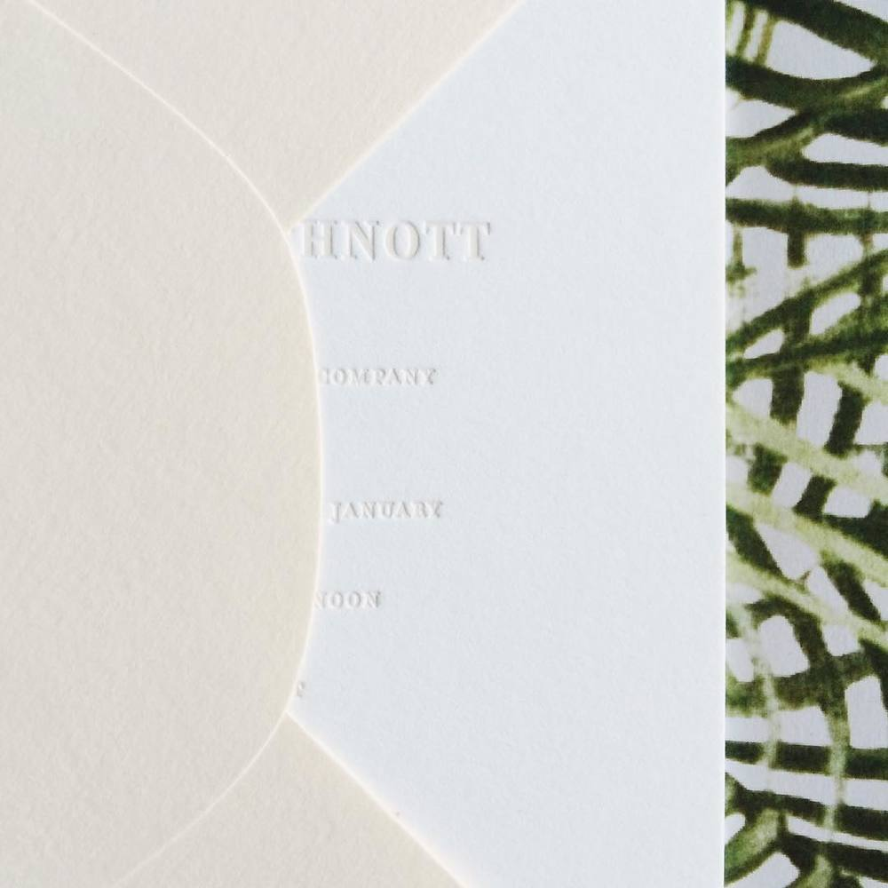 Tropical Invitation / Paper & Type
