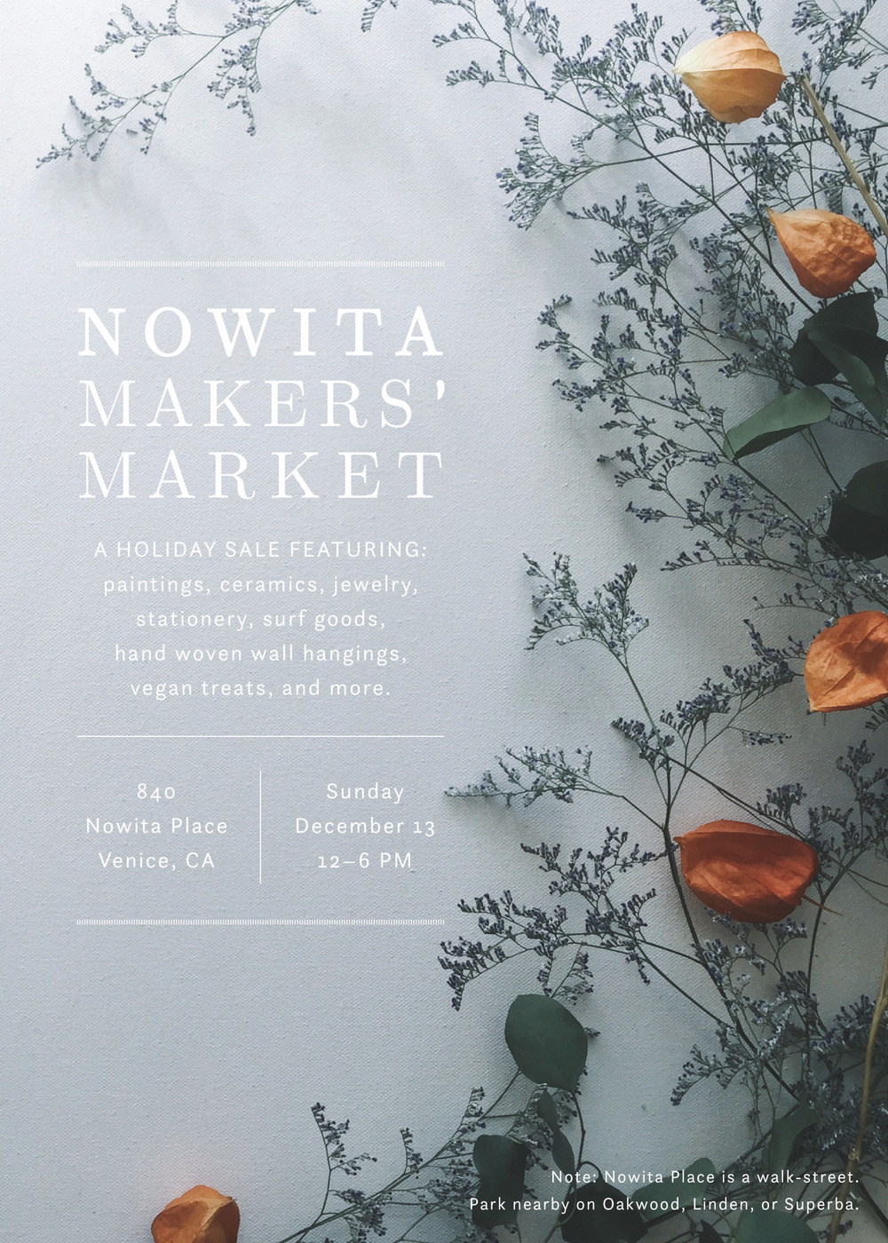 Nowita Makers' Market / Allison Kunath x Paper & Type