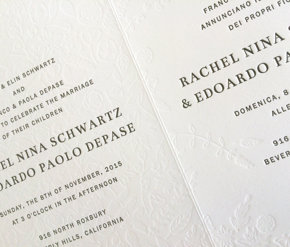 Eddy & Rachel Invitation / Paper & Type