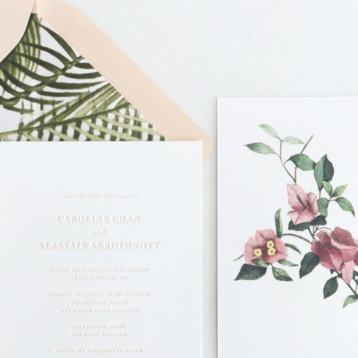 A TROPICAL WEDDING · Invitation
