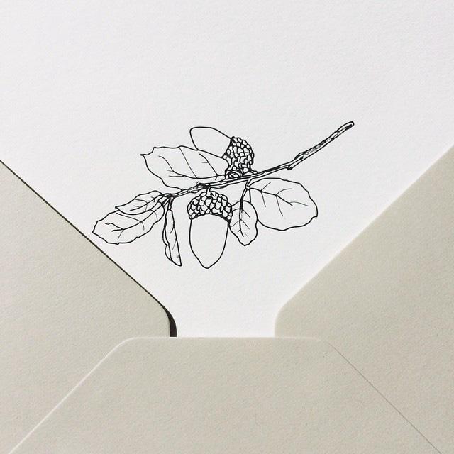 Invitation illustration / Paper & Type