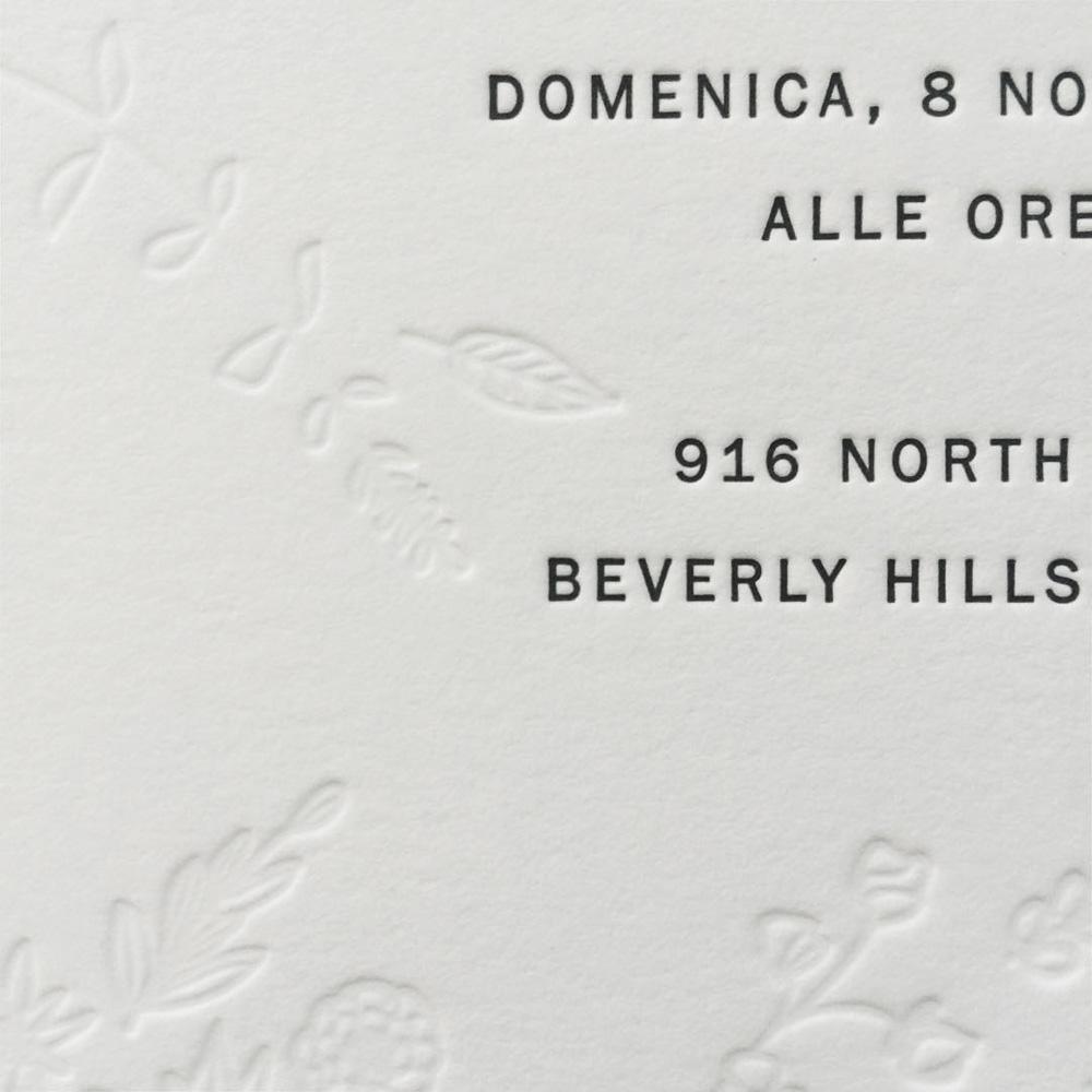 Invitation / Paper & Type