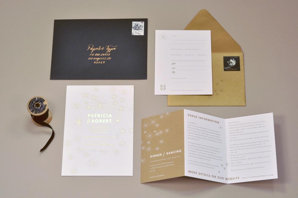 Invitation set / Paper & Type
