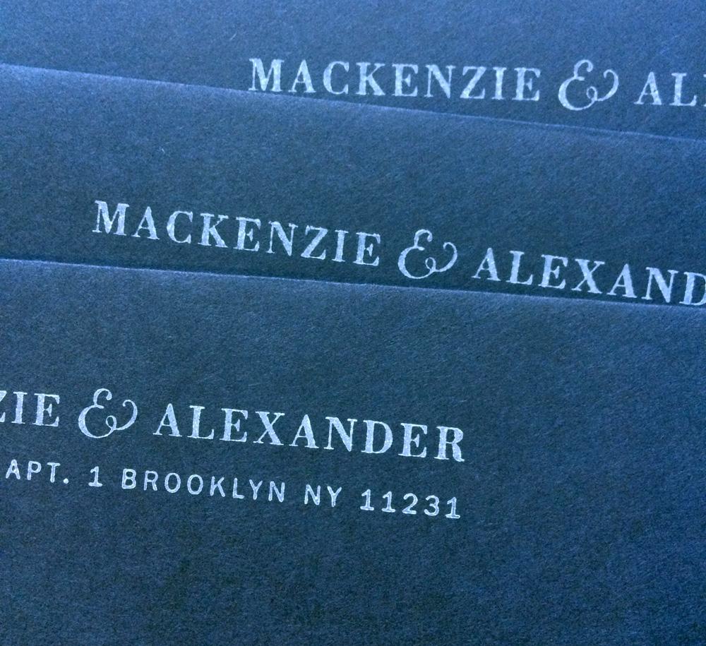 Address stamp / Paper & Type