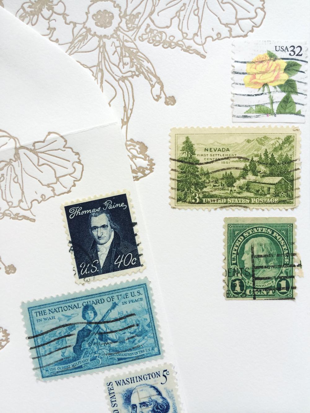 Vintage (canceled) postage