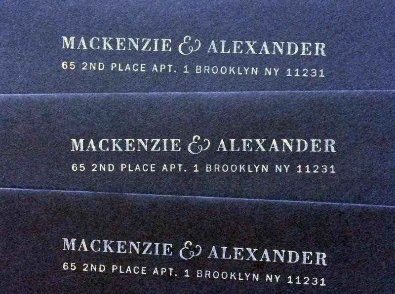 Rubber stamped return address
