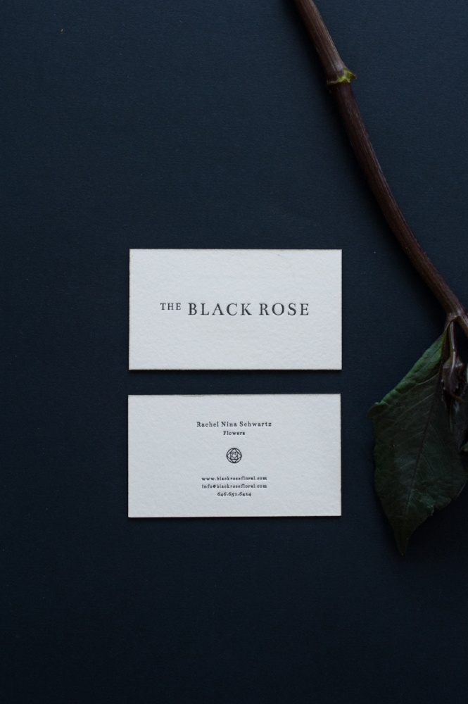 Design for The Black Rose by Paper & Type, styling and photography by Emilie Anne Szabo