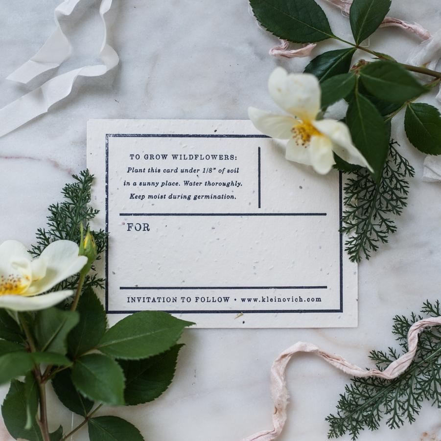 NYC Garden Wedding | Save-the-Date