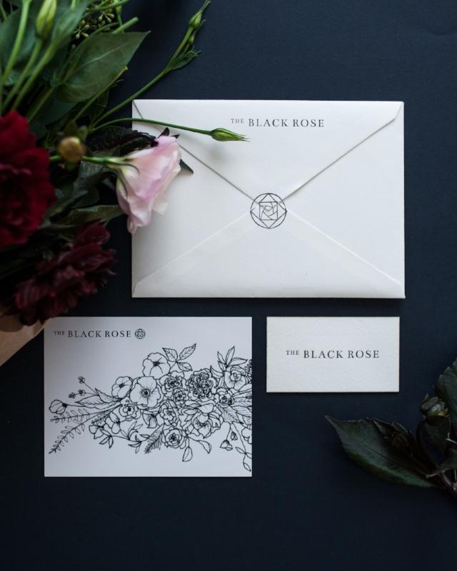 THE BLACK ROSE · Logo & Identity