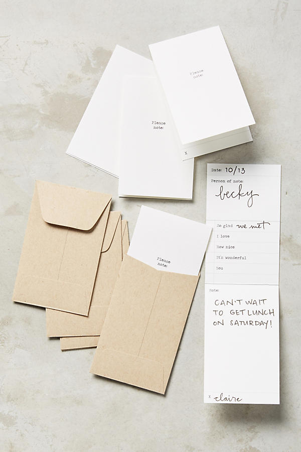 Paper & Type's Little Notes at Anthropologie