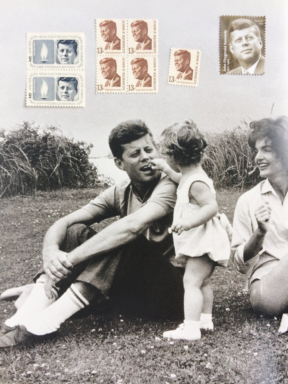 JFK Postage Stamps / Paper & Type