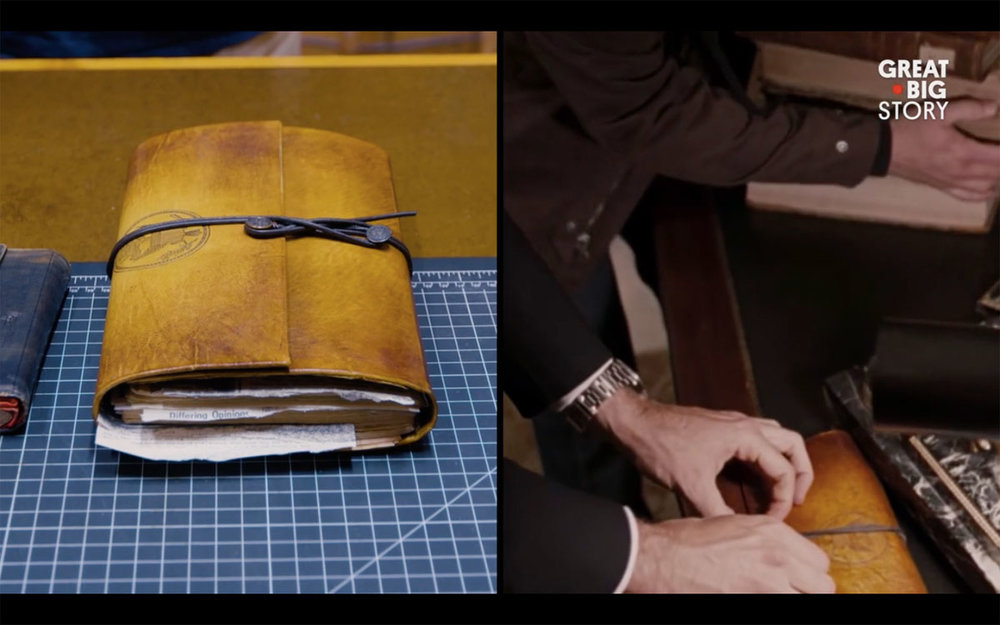 Leather-Bound Journal by Ross MacDonald