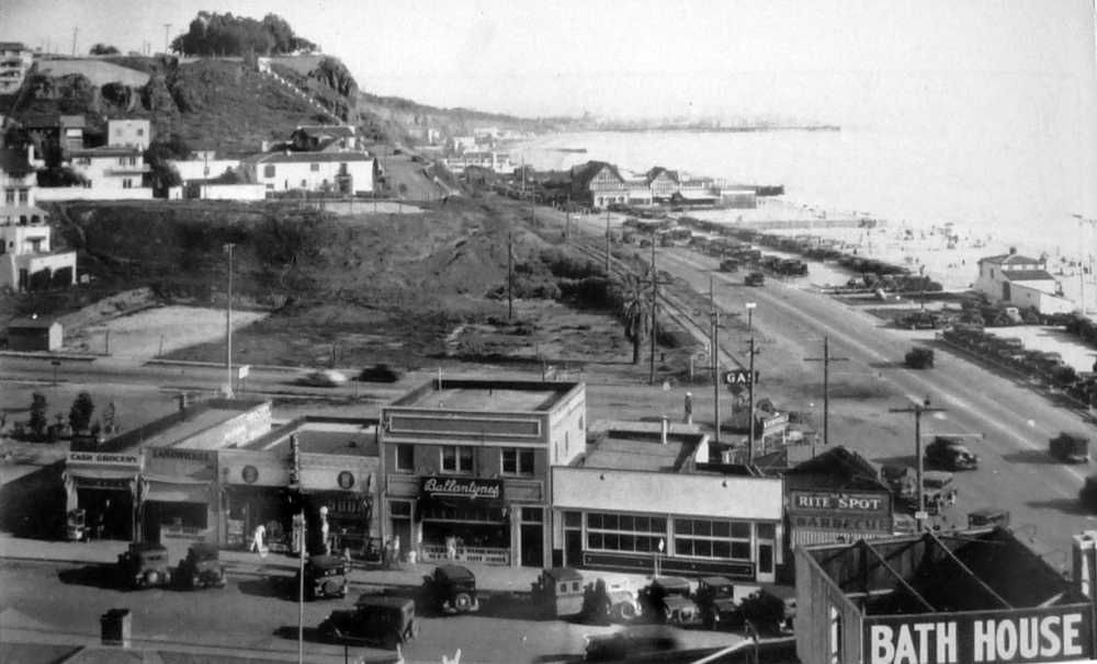 Businesses on West Channel around 1932